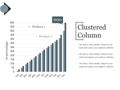 Clustered Column Template Ppt PowerPoint Presentation Portfolio Deck