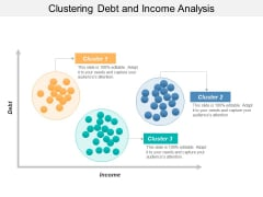 Clustering Debt And Income Analysis Ppt PowerPoint Presentation Outline Graphics Example