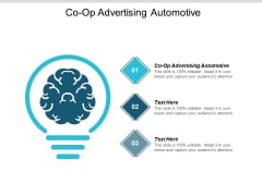 Co Op Advertising Automotive Ppt PowerPoint Presentation Layouts Ideas Cpb