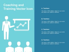 Coaching And Training Vector Icon Ppt PowerPoint Presentation Outline Format Ideas
