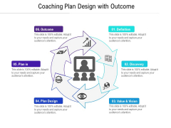 Coaching Plan Design With Outcome Ppt PowerPoint Presentation Gallery Gridlines PDF