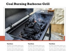 Coal Burning Barbecue Grill Ppt PowerPoint Presentation Layouts Good PDF
