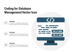 Coding For Database Management Vector Icon Ppt PowerPoint Presentation File Formats PDF
