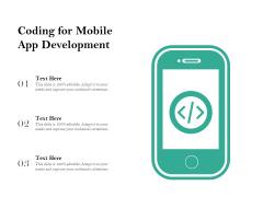 Coding For Mobile App Development Ppt PowerPoint Presentation File Show PDF