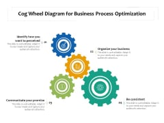 Cog Wheel Diagram For Business Process Optimization Ppt PowerPoint Presentation Pictures Examples PDF