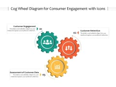 Cog Wheel Diagram For Consumer Engagement With Icons Ppt PowerPoint Presentation File Guide PDF
