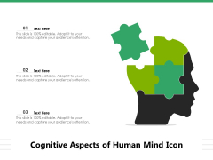 Cognitive Aspects Of Human Mind Icon Ppt PowerPoint Presentation Outline Mockup PDF