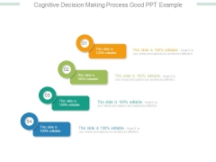 Cognitive Decision Making Process Good Ppt Example
