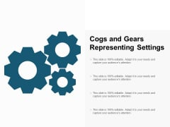 Cogs And Gears Representing Settings Ppt PowerPoint Presentation Professional Slide Download