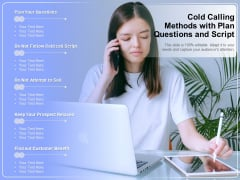 Cold Calling Methods With Plan Questions And Script Ppt PowerPoint Presentation Summary Example PDF