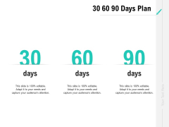 Collaboration Agreement 30 60 90 Days Plan Ppt Gallery Demonstration PDF
