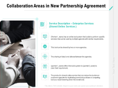 Collaboration Agreement Collaboration Areas In New Partnership Agreement Ppt Show Tips PDF