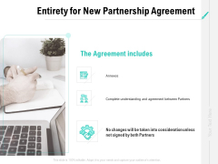Collaboration Agreement Entirety For New Partnership Agreement Ppt Infographics Graphics Example PDF