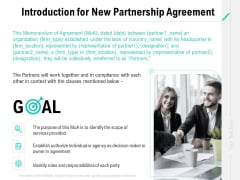 Collaboration Agreement Introduction For New Partnership Agreement Ppt Summary Designs Download PDF