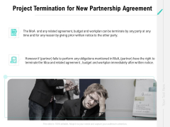Collaboration Agreement Project Termination For New Partnership Agreement Ppt Visual Aids Slides PDF