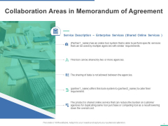 Collaboration Areas In Memorandum Of Agreement Ppt PowerPoint Presentation Icon Demonstration