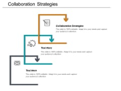 Collaboration Strategies Ppt PowerPoint Presentation Pictures Deck Cpb