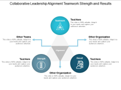 Collaborative Leadership Alignment Teamwork Strength And Results Ppt PowerPoint Presentation Outline Format Ideas