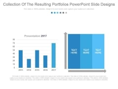 Collection Of The Resulting Portfolios Powerpoint Slide Designs