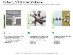 Collective Equity Funding Pitch Deck Problem Solution And Outcome Topics PDF
