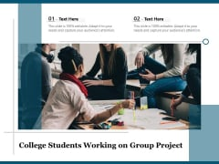 College Students Working On Group Project Ppt PowerPoint Presentation Professional Example PDF