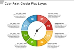 Color Pallet Circular Flow Layout Ppt PowerPoint Presentation Gallery Ideas PDF