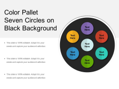 Color Pallet Seven Circles On Black Background Ppt PowerPoint Presentation Gallery Graphics Download PDF
