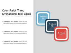 Color Pallet Three Overlapping Text Boxes Ppt PowerPoint Presentation Gallery Slide Download PDF