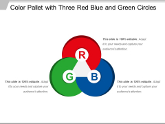 Color Pallet With Three Red Blue And Green Circles Ppt PowerPoint Presentation File Slideshow PDF