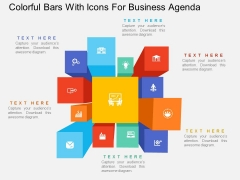 Colorful Bars With Icons For Business Agenda Powerpoint Template