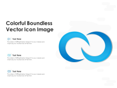 Colorful Boundless Vector Icon Image Ppt PowerPoint Presentation Icon Diagrams PDF