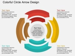 Colorful Circle Arrow Design Powerpoint Template