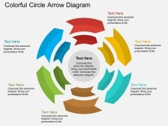 Colorful Circle Arrow Diagram Powerpoint Template
