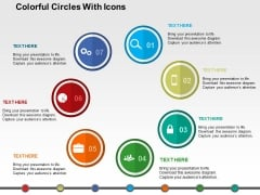 Colorful Circles With Icons Powerpoint Templates