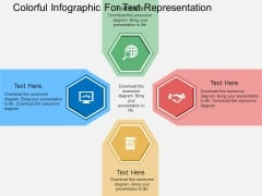 Colorful Infographic For Text Representation Powerpoint Templates