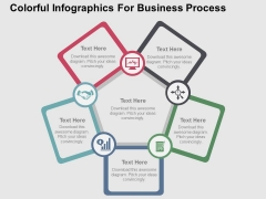 Colorful Infographics For Business Process Powerpoint Templates