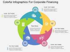 Colorful Infographics For Corporate Financing Powerpoint Template