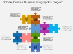 Colorful Puzzles Business Infographics Diagram Powerpoint Template