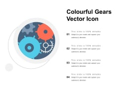 Colourful Gears Vector Icon Ppt PowerPoint Presentation Ideas Backgrounds