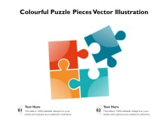 Colourful Puzzle Pieces Vector Illustration Ppt PowerPoint Presentation Portfolio Designs Download PDF