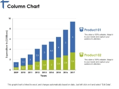 Column Chart Ppt PowerPoint Presentation Portfolio Topics