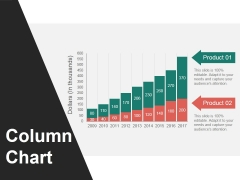Column Chart Ppt PowerPoint Presentation Summary Icon