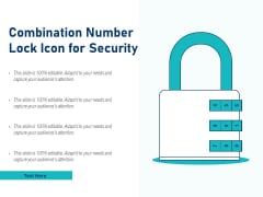 Combination Number Lock Icon For Security Ppt PowerPoint Presentation Professional Slides PDF