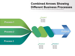 Combined Arrows Showing Different Business Processes Ppt PowerPoint Presentation File Introduction PDF