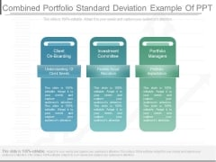 Combined Portfolio Standard Deviation Example Of Ppt