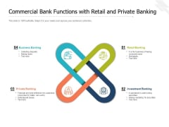 Commercial Bank Functions With Retail And Private Banking Ppt PowerPoint Presentation File Graphics Pictures PDF