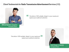 Commercial Broadcasting Client Testimonials For Radio Transmission Advertisement Services Themes PDF