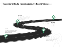 Commercial Broadcasting Roadmap For Radio Transmission Advertisement Services Topics PDF