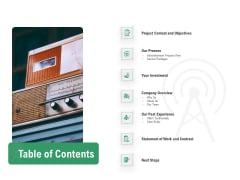 Commercial Broadcasting Table Of Contents Diagrams PDF