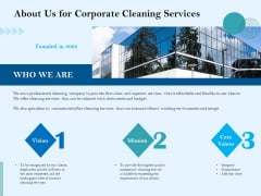 Commercial Cleaning Services About Us For Corporate Cleaning Services Professional PDF
